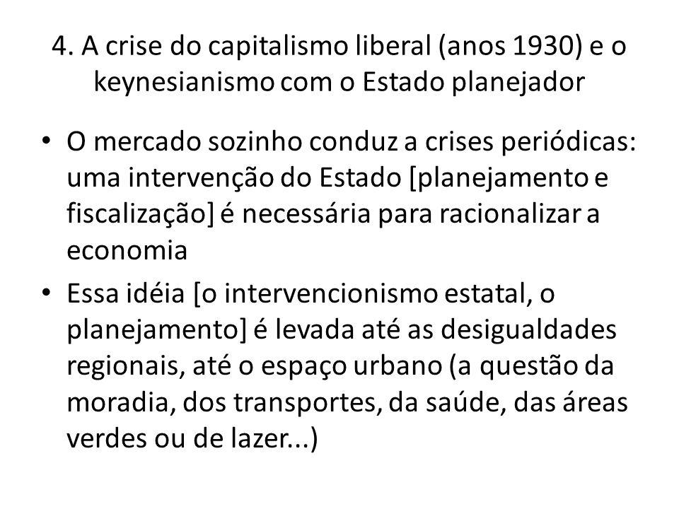 4. A crise do capitalismo liberal (anos 1930) e o keynesianismo com o Estado planejador