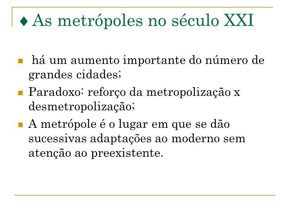 As metrópoles no século XXI