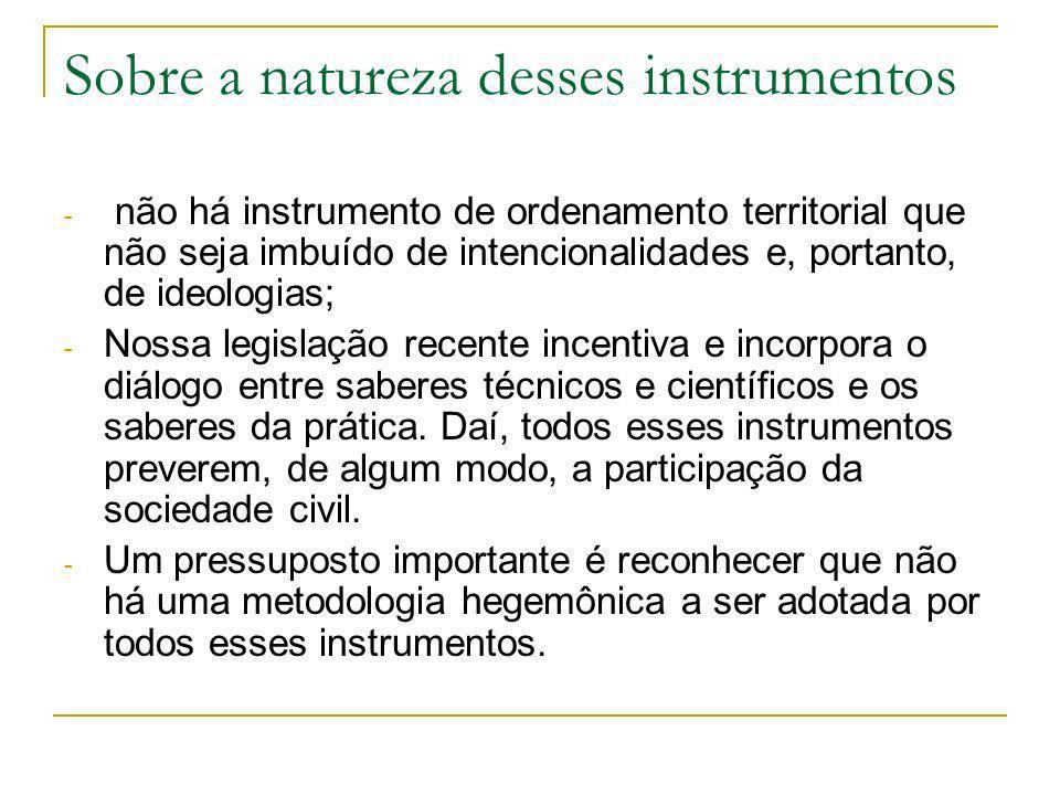 Sobre a natureza desses instrumentos