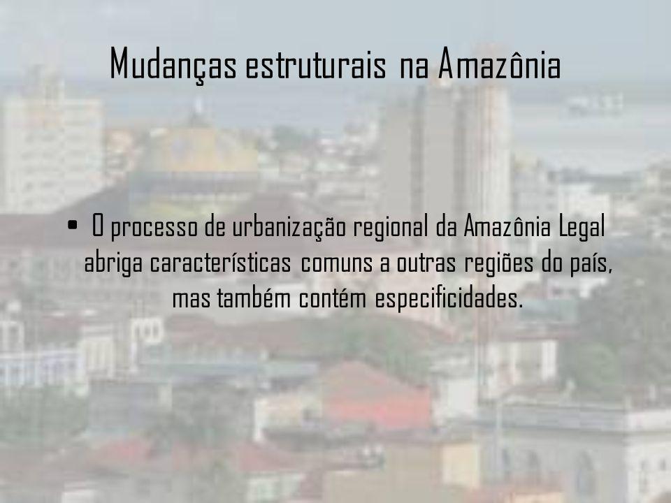 Mudanças estruturais na Amazônia