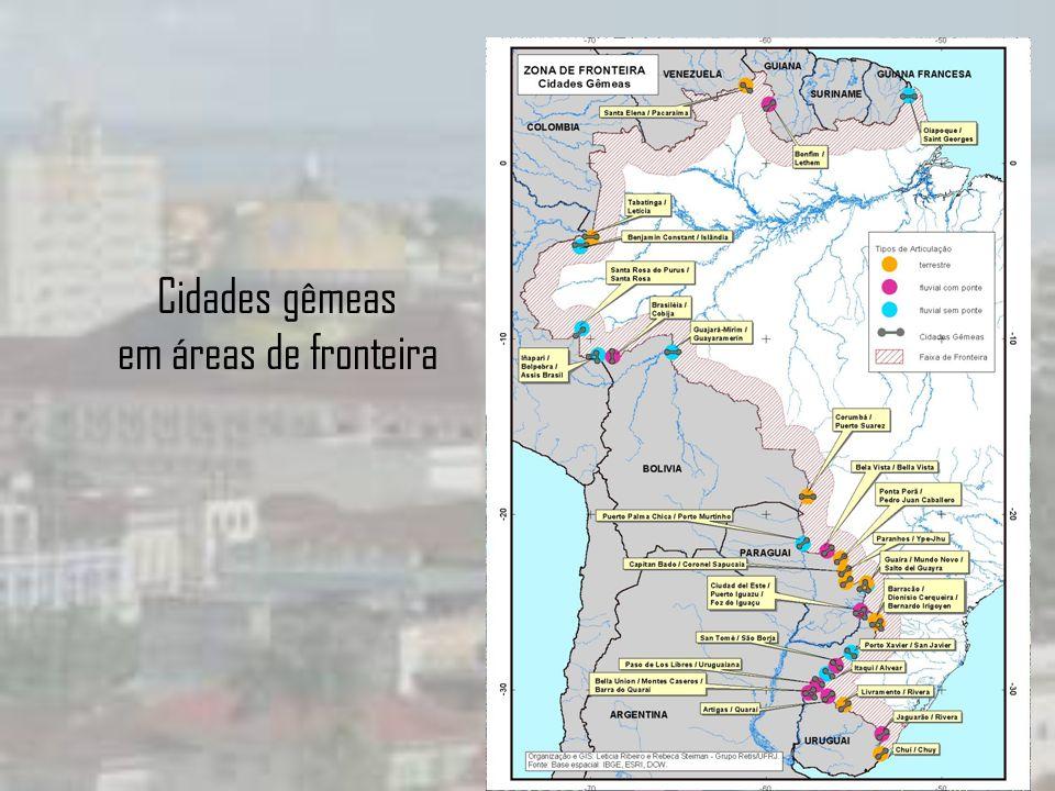 Cidades gêmeas em áreas de fronteira