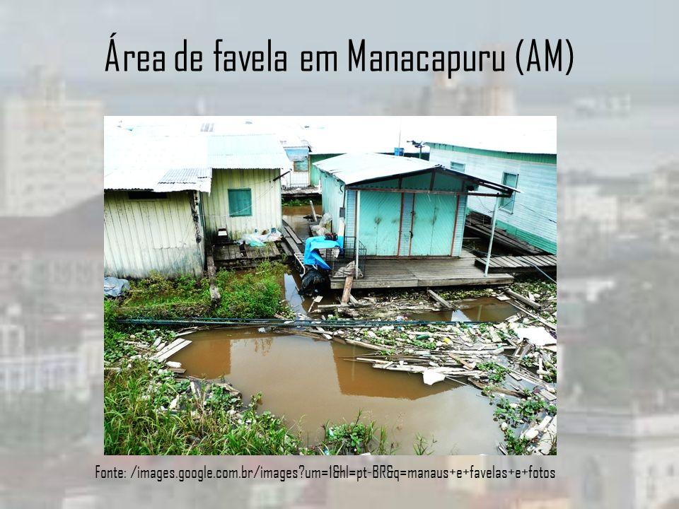 Área de favela em Manacapuru (AM)