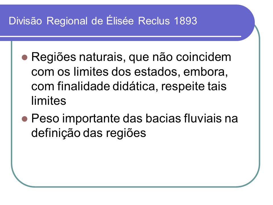 Divisão Regional de Élisée Reclus 1893