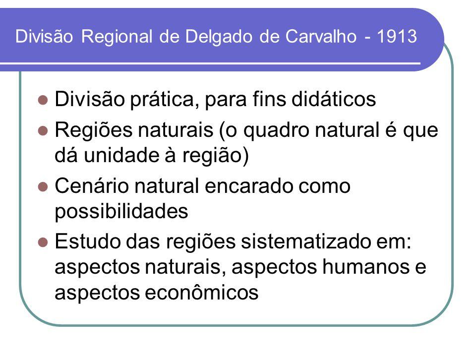 Divisão Regional de Delgado de Carvalho - 1913