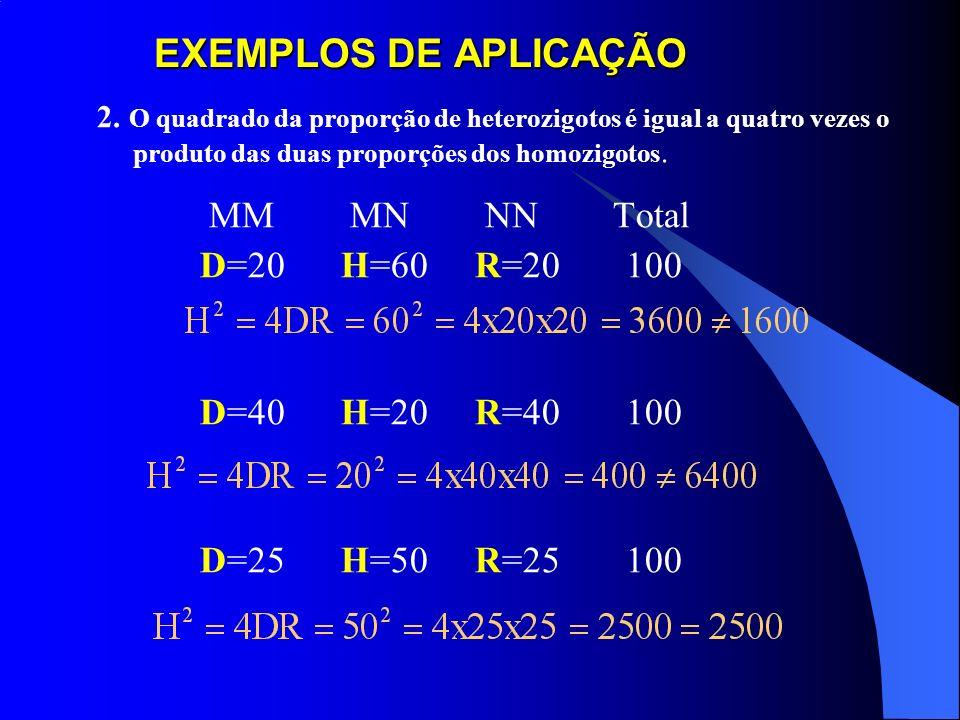 EXEMPLOS DE APLICAÇÃO MM MN NN Total D=20 H=60 R=20 100