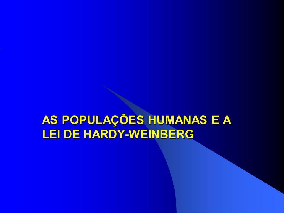 AS POPULAÇÕES HUMANAS E A LEI DE HARDY-WEINBERG