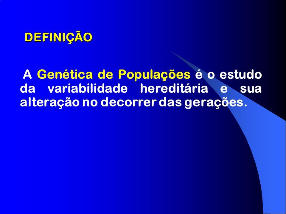 DEFINIÇÃOA Genética de Populações é o estudo da variabilidade hereditária e sua alteração no decorrer das gerações.