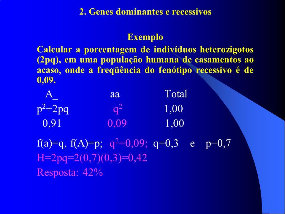 2. Genes dominantes e recessivos