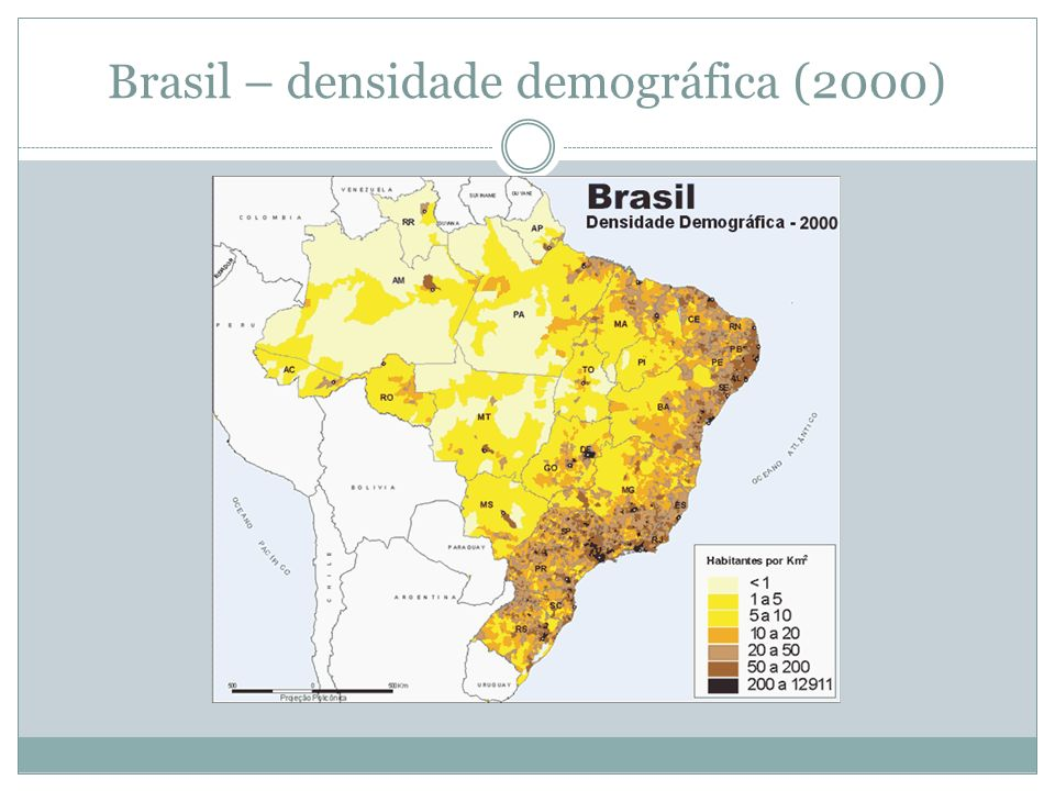 Brasil – densidade demográfica (2000)