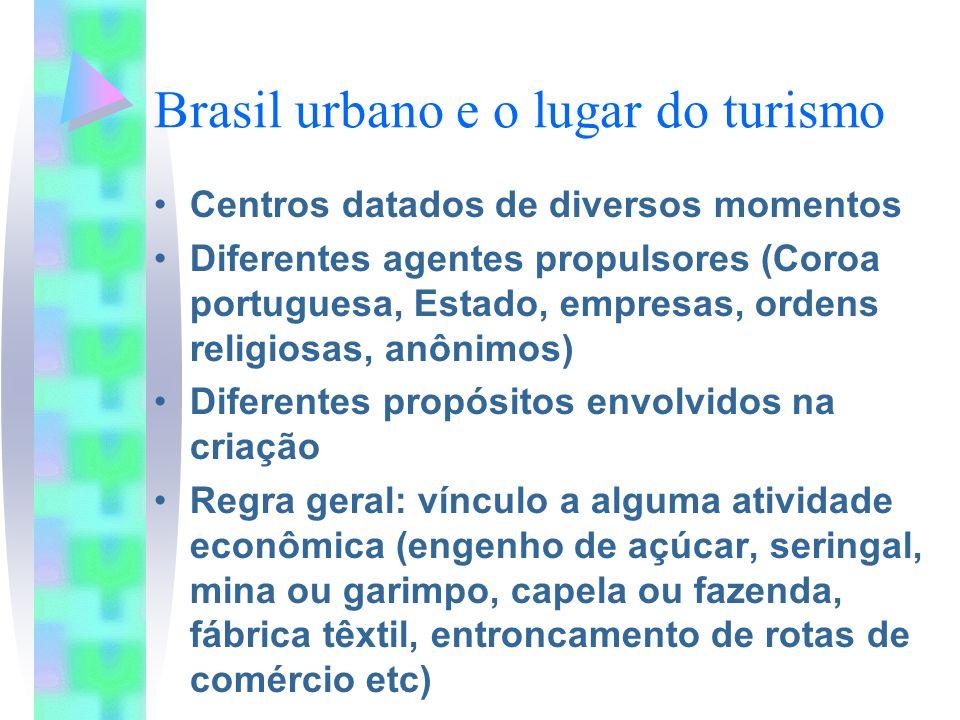 Brasil urbano e o lugar do turismo
