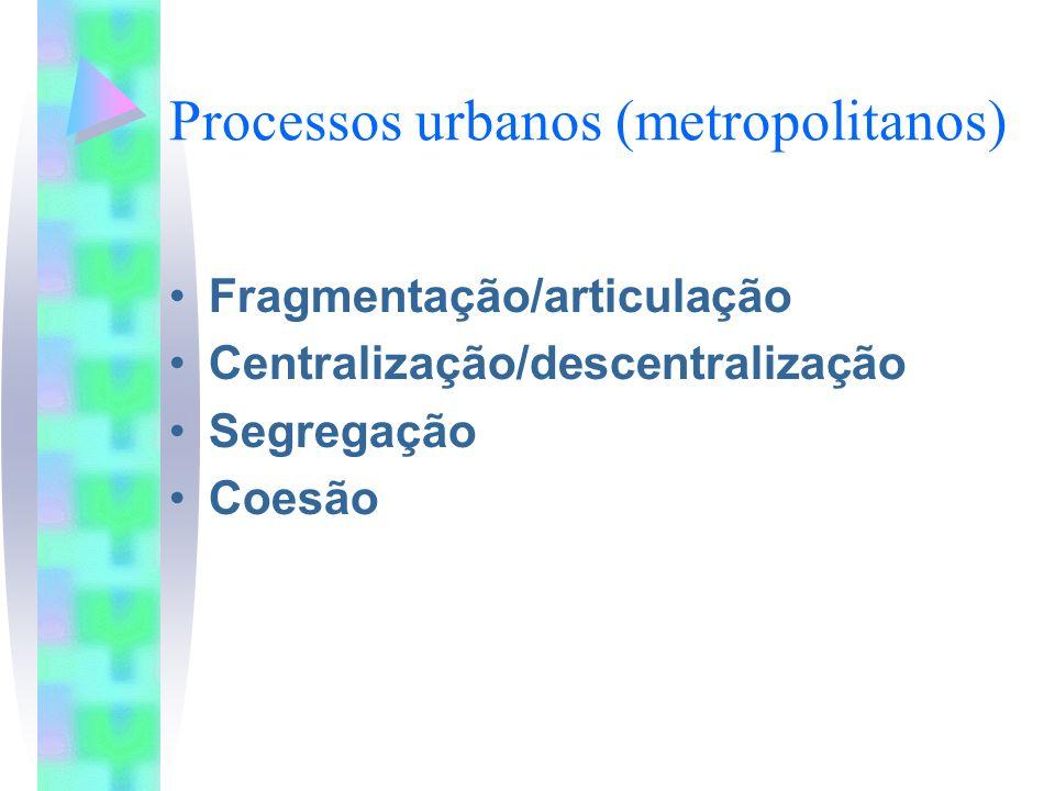 Processos urbanos (metropolitanos)