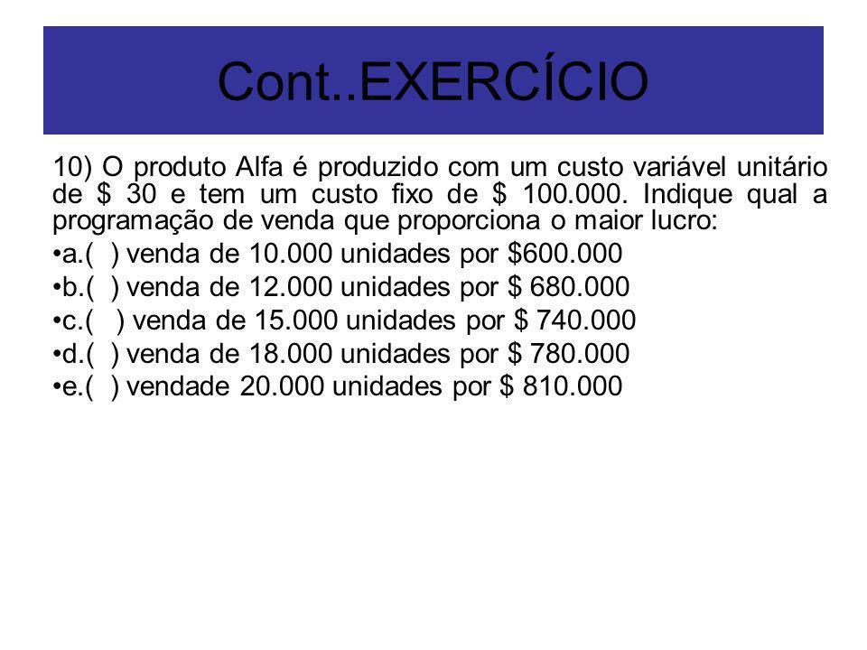 Cont..EXERCÍCIO