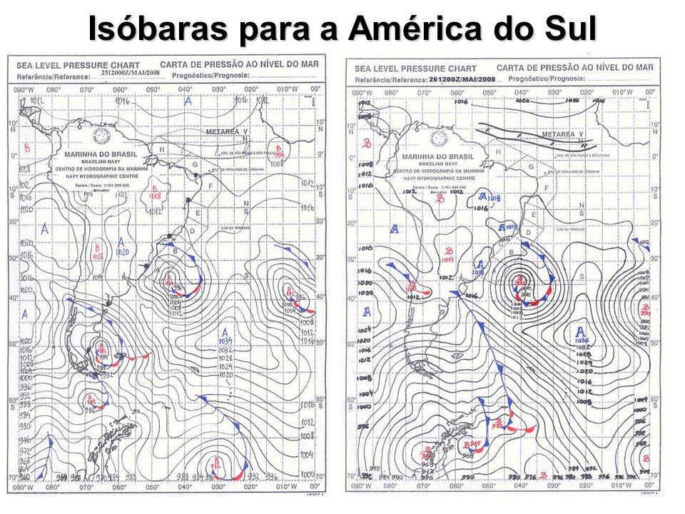 Isóbaras para a América do Sul