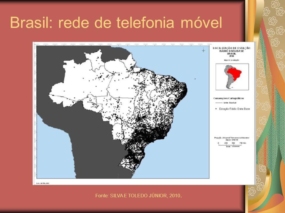 Brasil: rede de telefonia móvel