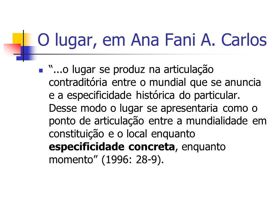 O lugar, em Ana Fani A. Carlos