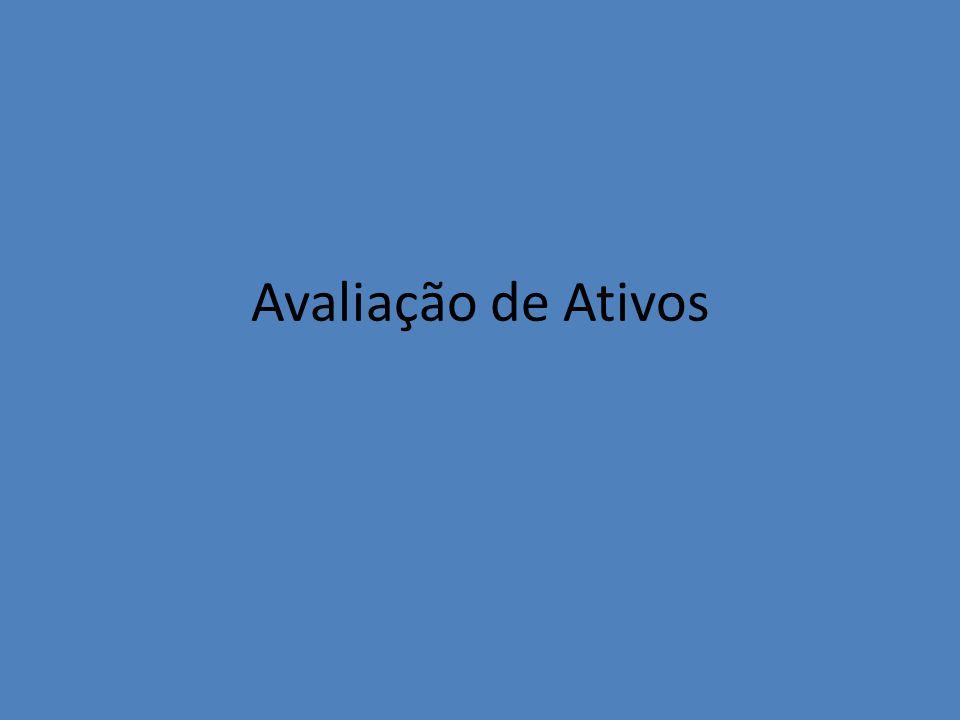 Avaliação de Ativos