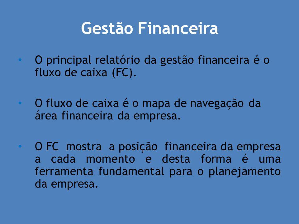 Gestão FinanceiraO principal relatório da gestão financeira é o fluxo de caixa (FC).