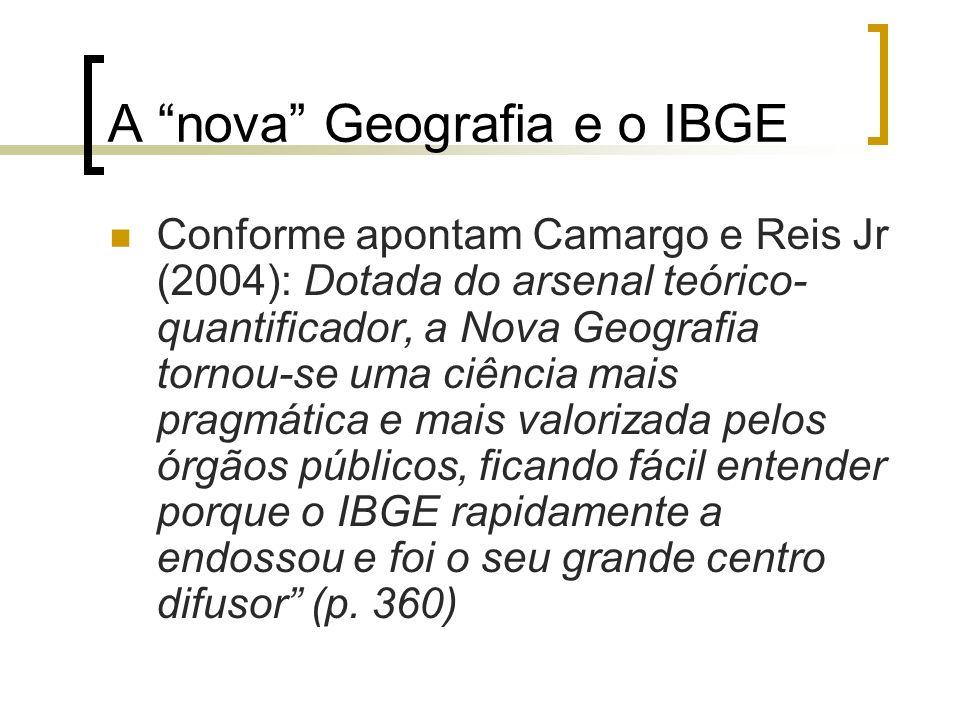 A nova Geografia e o IBGE