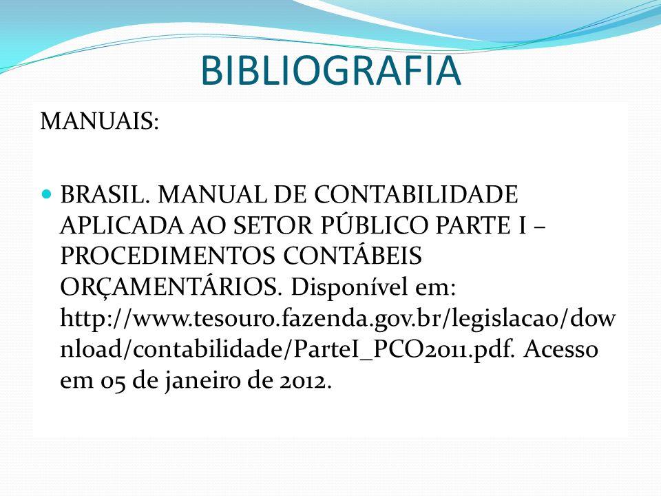BIBLIOGRAFIA MANUAIS: