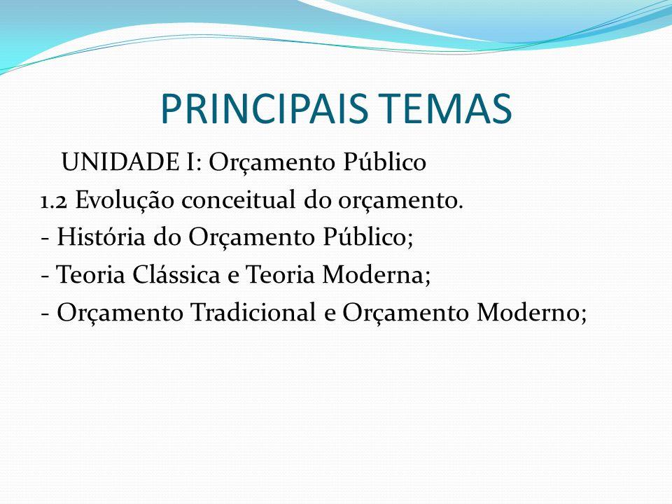 PRINCIPAIS TEMAS