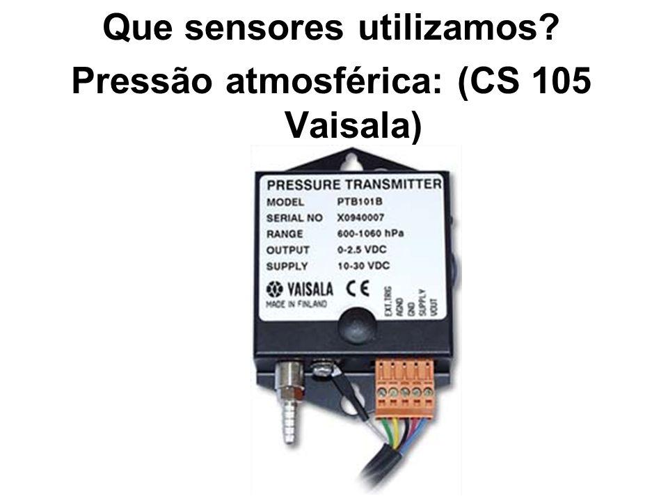 Que sensores utilizamos Pressão atmosférica: (CS 105 Vaisala)