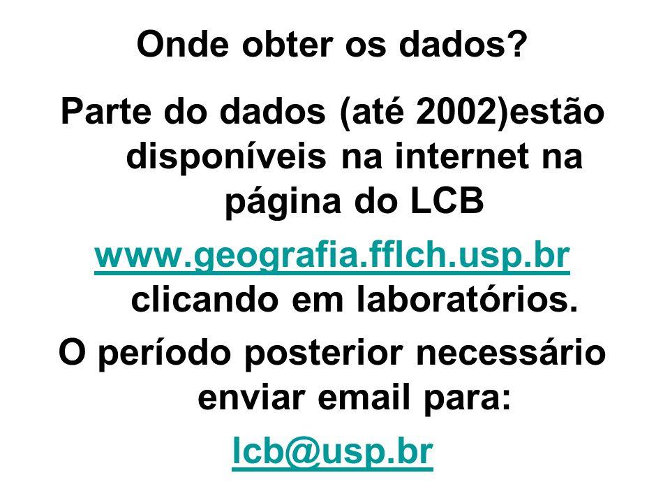 www.geografia.fflch.usp.br clicando em laboratórios.