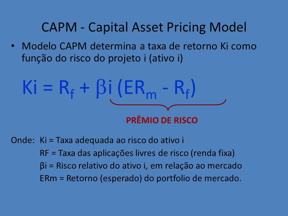 CAPM - Capital Asset Pricing Model