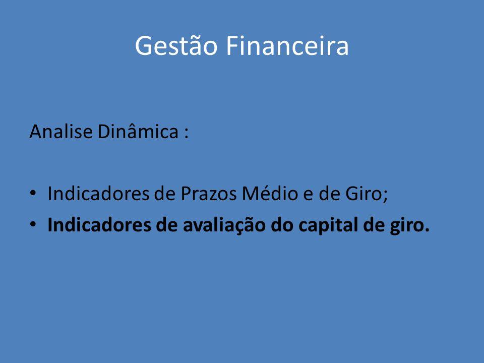 Gestão Financeira Analise Dinâmica :