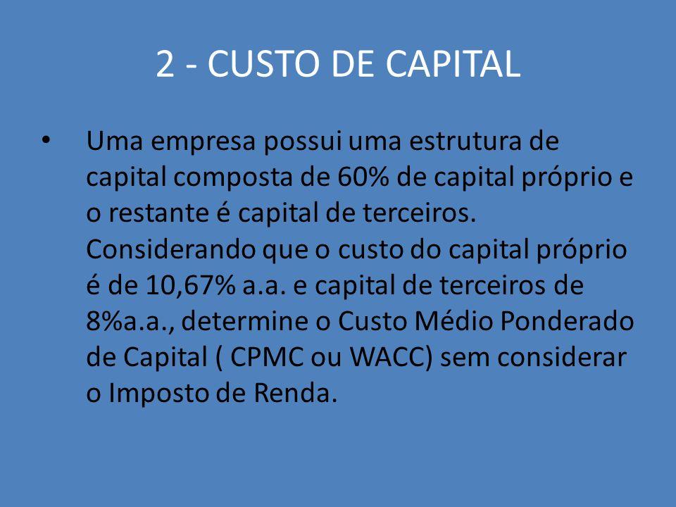 2 - CUSTO DE CAPITAL