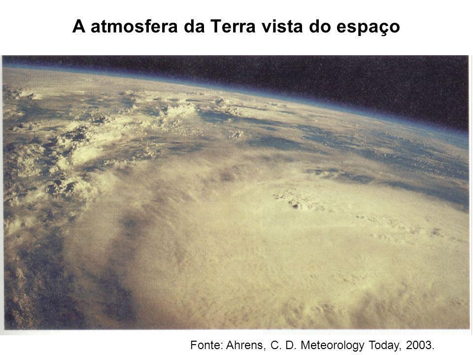 A atmosfera da Terra vista do espaço