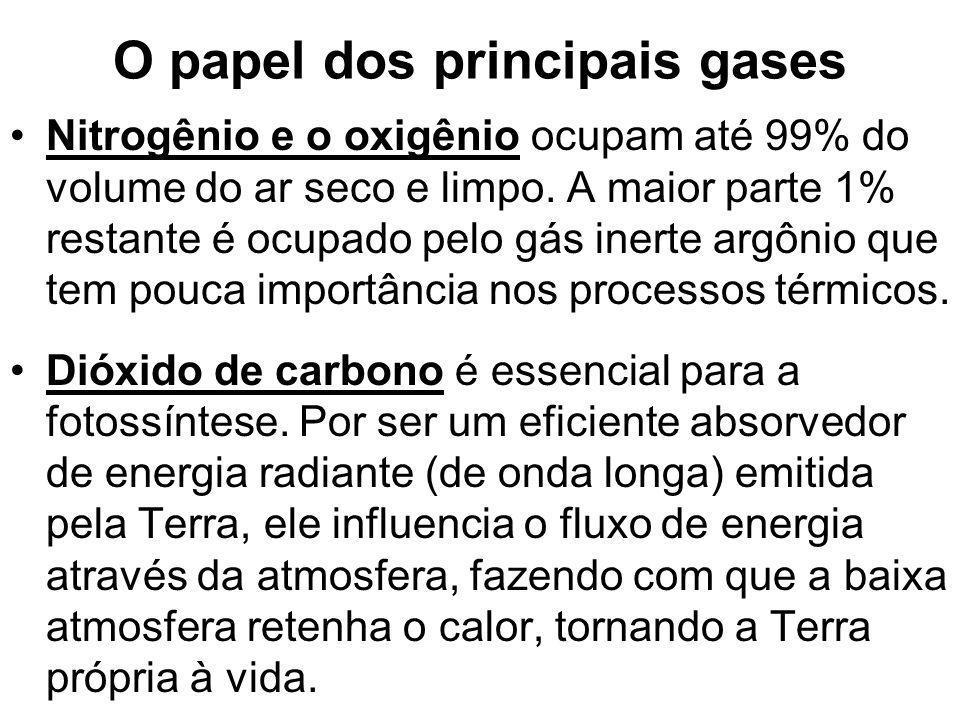 O papel dos principais gases
