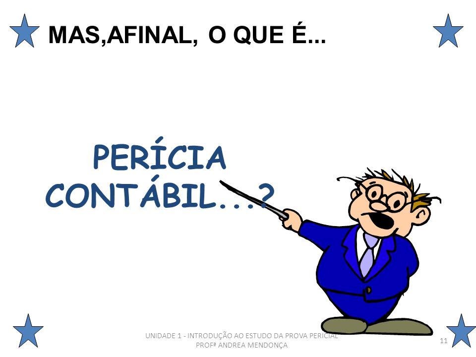 PERÍCIA CONTÁBIL... MAS,AFINAL, O QUE É...