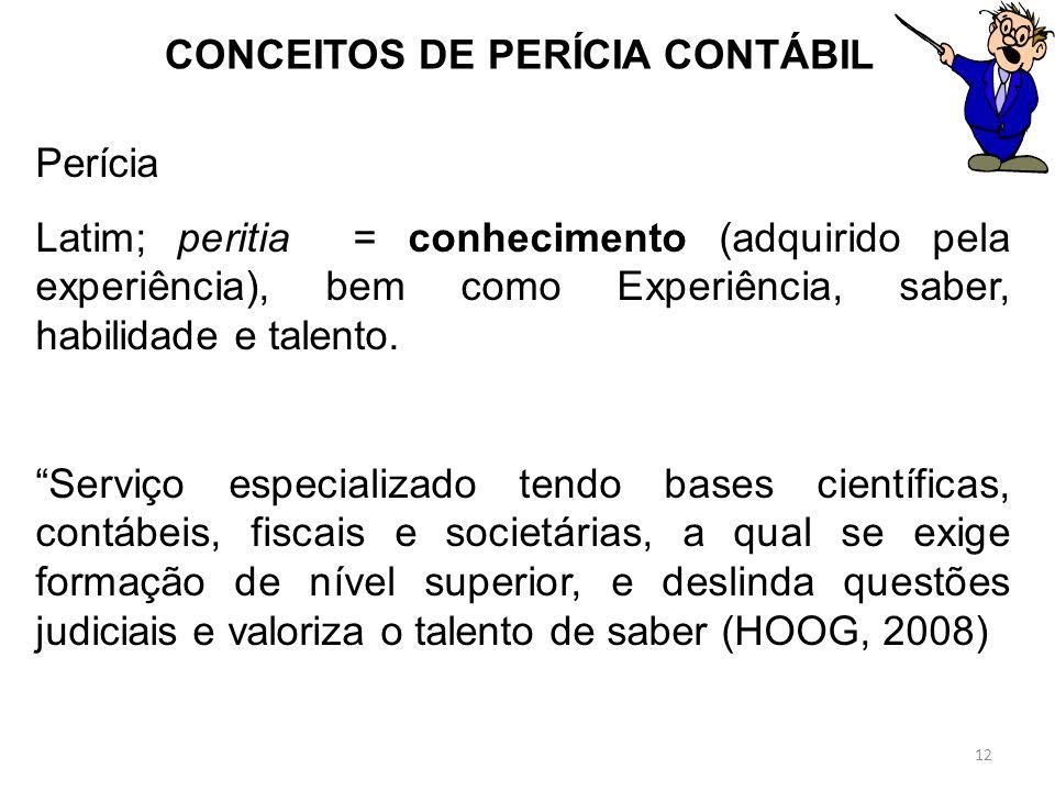 CONCEITOS DE PERÍCIA CONTÁBIL