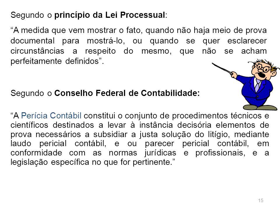 Segundo o princípio da Lei Processual: