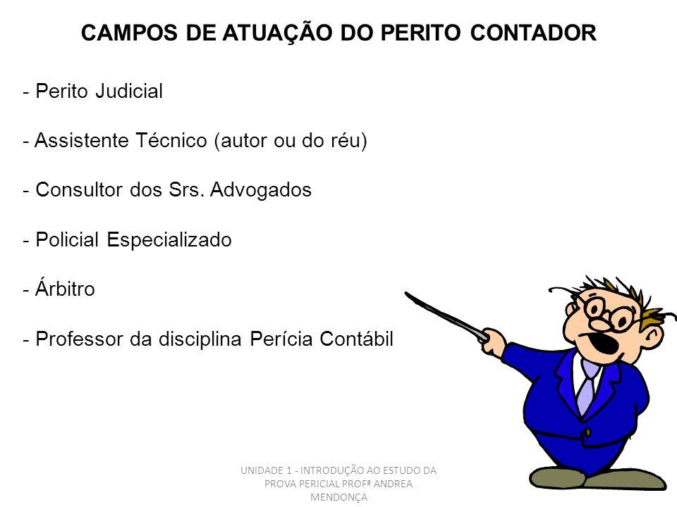 CAMPOS DE ATUAÇÃO DO PERITO CONTADOR