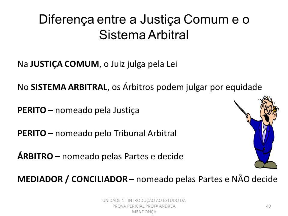 Diferença entre a Justiça Comum e o Sistema Arbitral