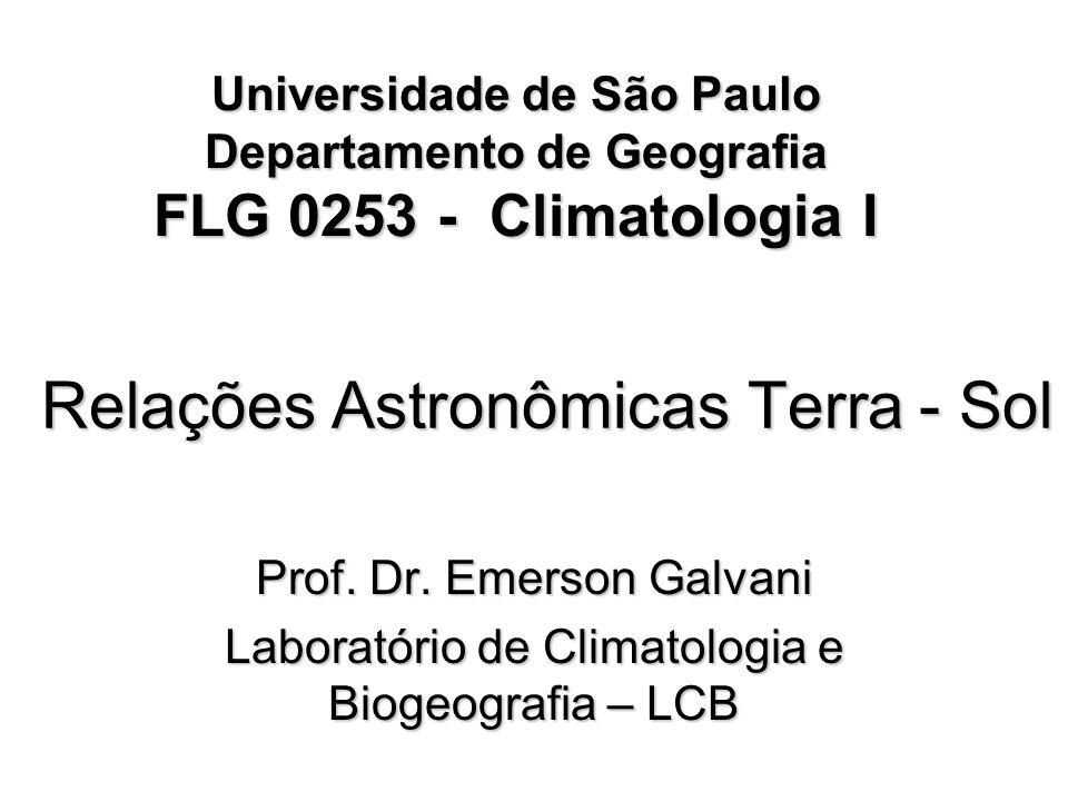 Relações Astronômicas Terra - Sol