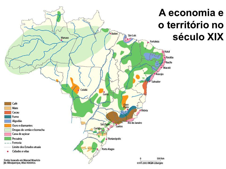 A economia e o território no século XIX