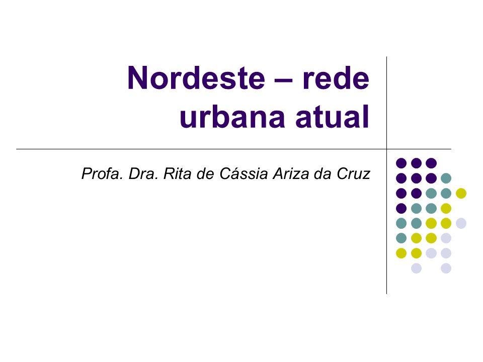 Nordeste – rede urbana atual