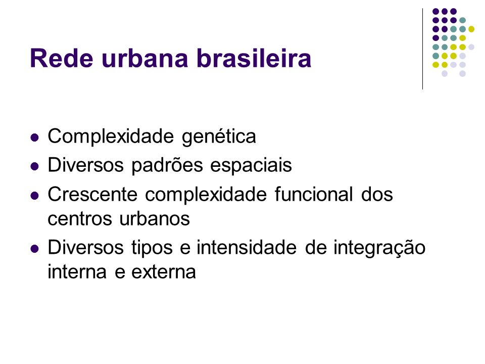 Rede urbana brasileira