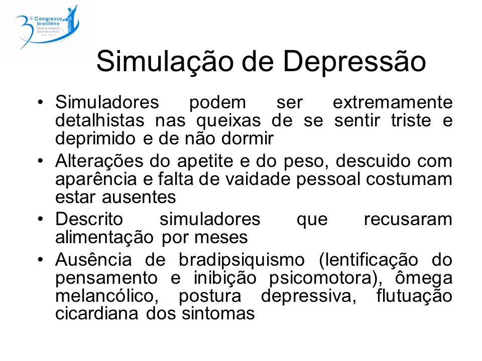 Simulação de Depressão