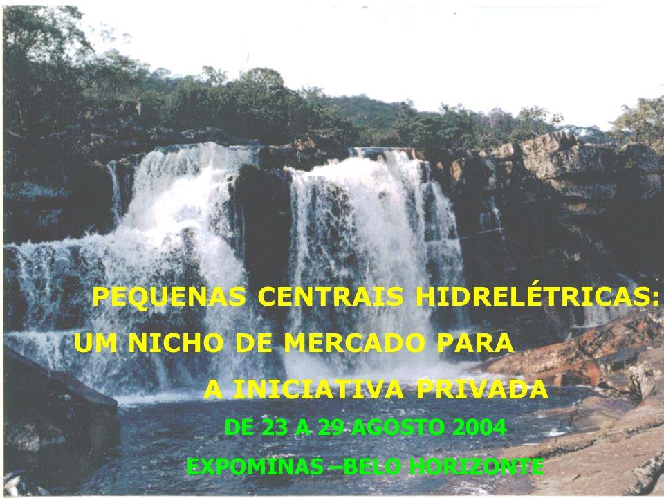 PEQUENAS CENTRAIS HIDRELÉTRICAS: EXPOMINAS –BELO HORIZONTE