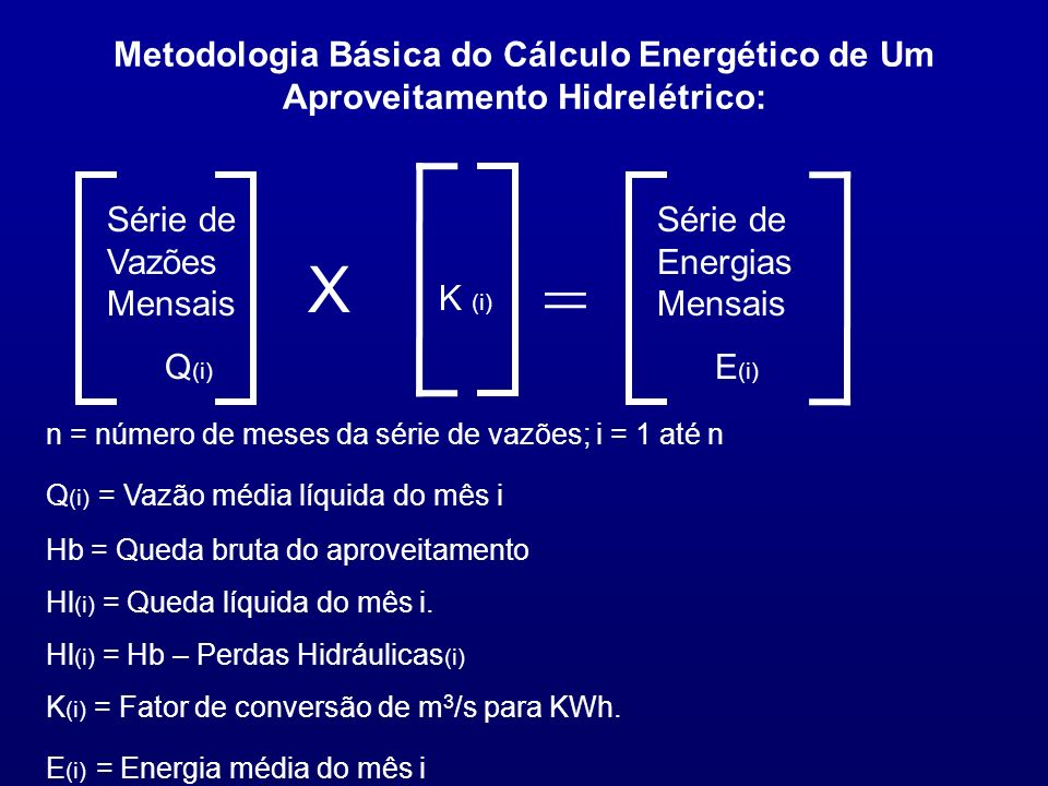 Metodologia Básica do Cálculo Energético de Um Aproveitamento Hidrelétrico: