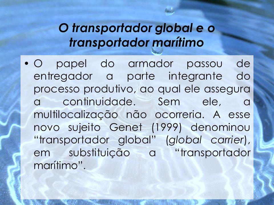 O transportador global e o transportador marítimo