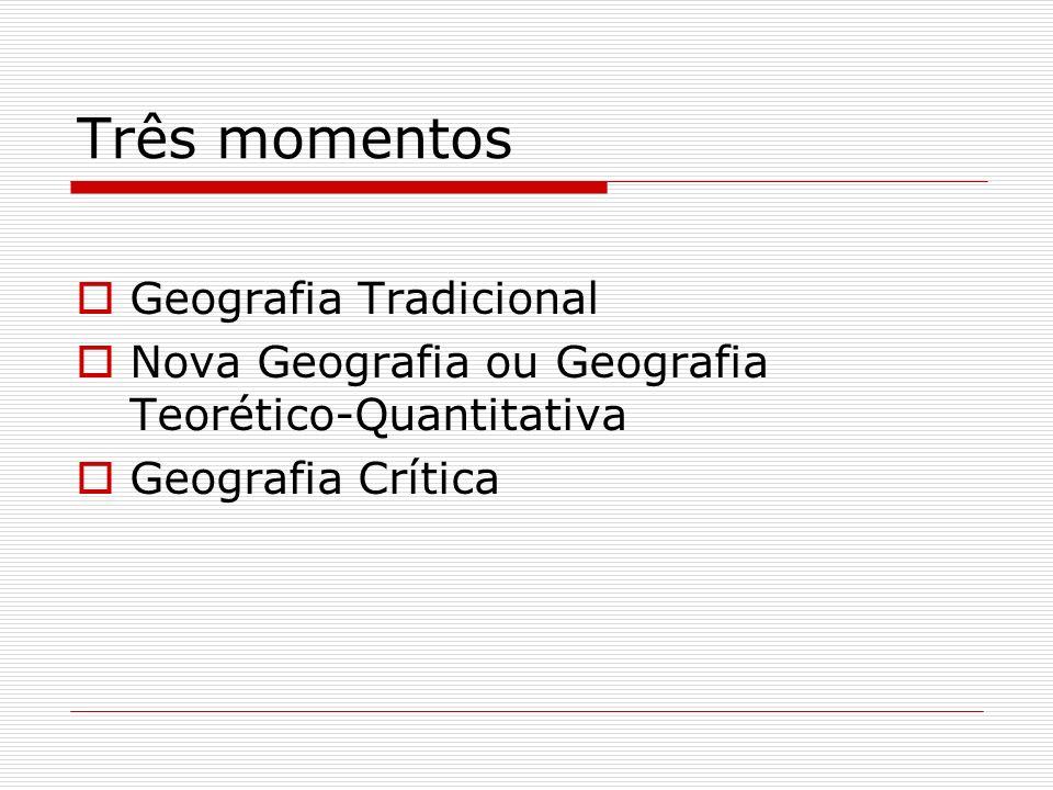 Três momentos Geografia Tradicional