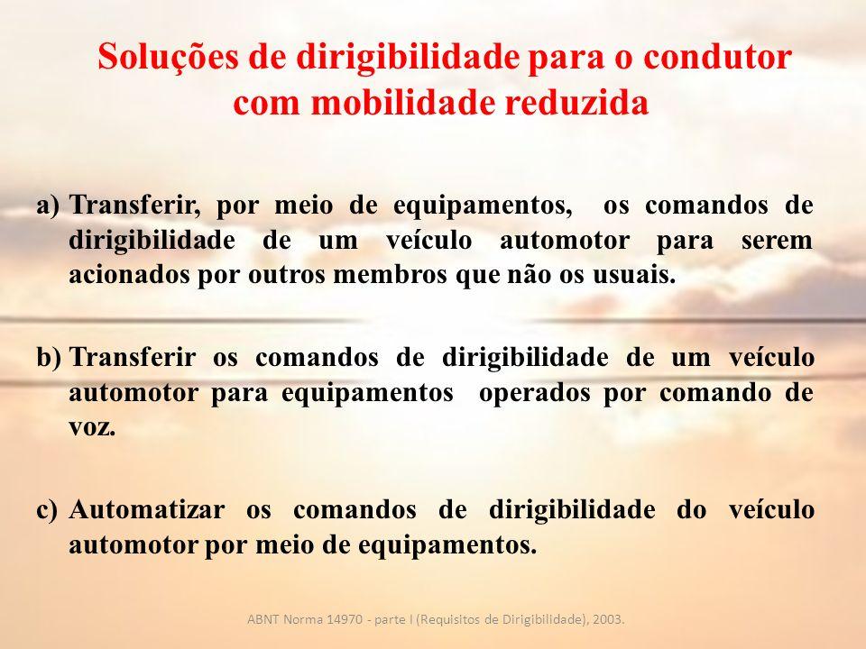 Soluções de dirigibilidade para o condutor com mobilidade reduzida