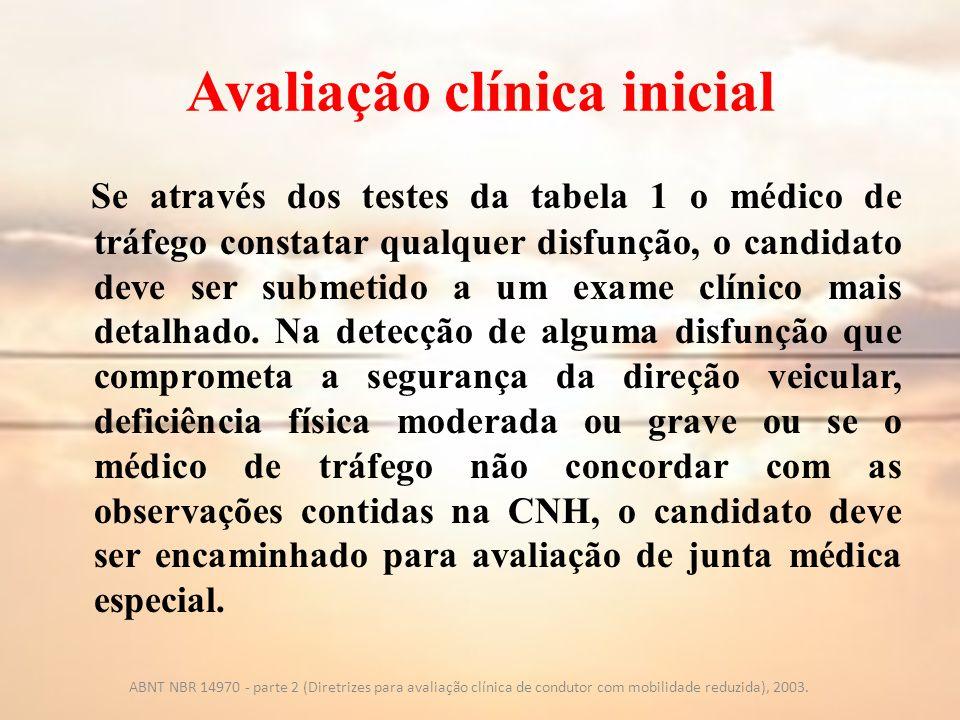 Avaliação clínica inicial