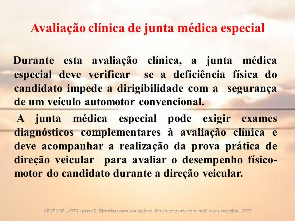 Avaliação clínica de junta médica especial
