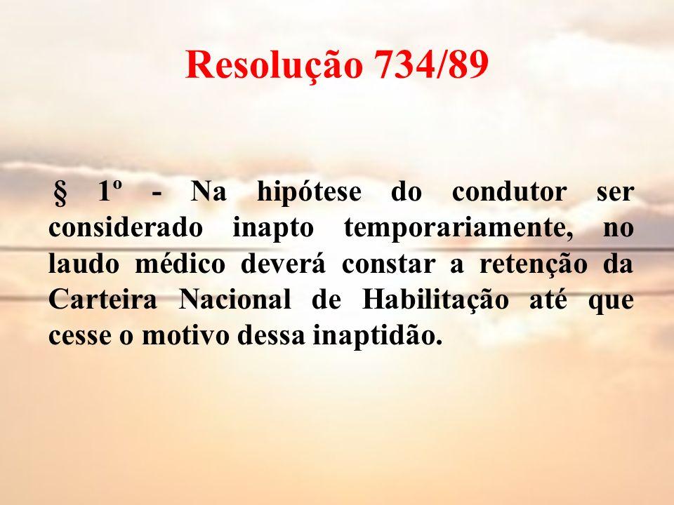 Resolução 734/89
