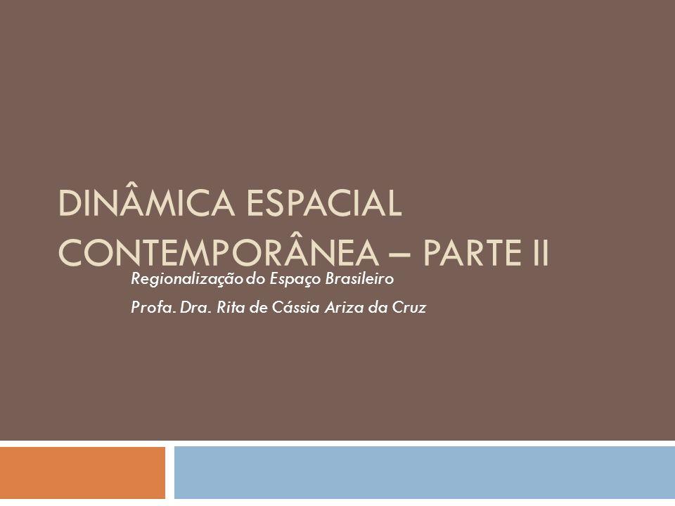 DINÂMICA ESPACIAL CONTEMPORÂNEA – PARTE II